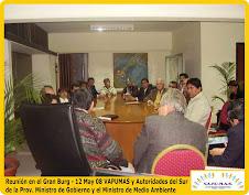 Reunión de VAPUMAS con Ministros de la Provincia