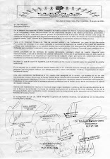 VAPUMAS envía Documento de Desagravio al Embajador del Reino Unido