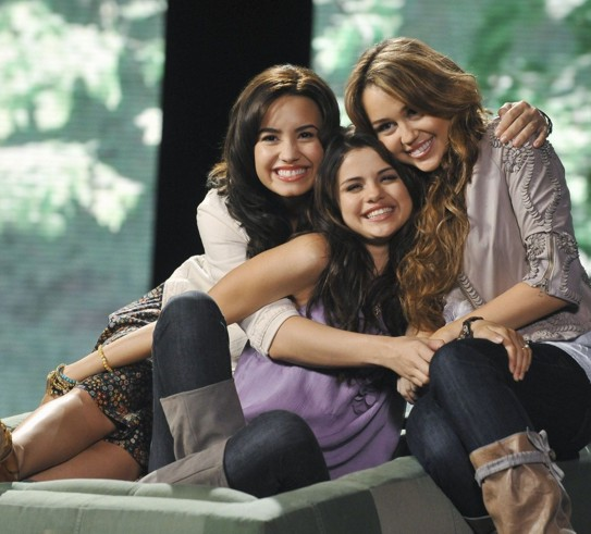 selena gomez and demi lovato and taylor swift and miley cyrus. selena gomez and demi lovato