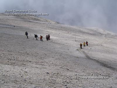 Mt. Damavand South Route Danger Zone