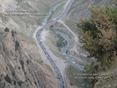 Haraz Valley, River and Road at base of Damavand, Photo by A. Soltani