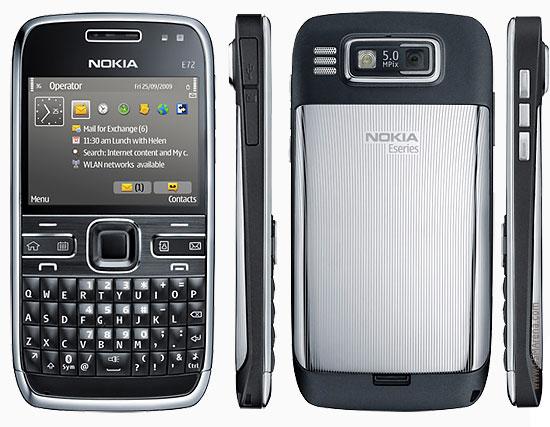 of Nokia e72:-