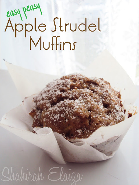 COLOURS OF MY LIFE: Apple Strudel Muffins