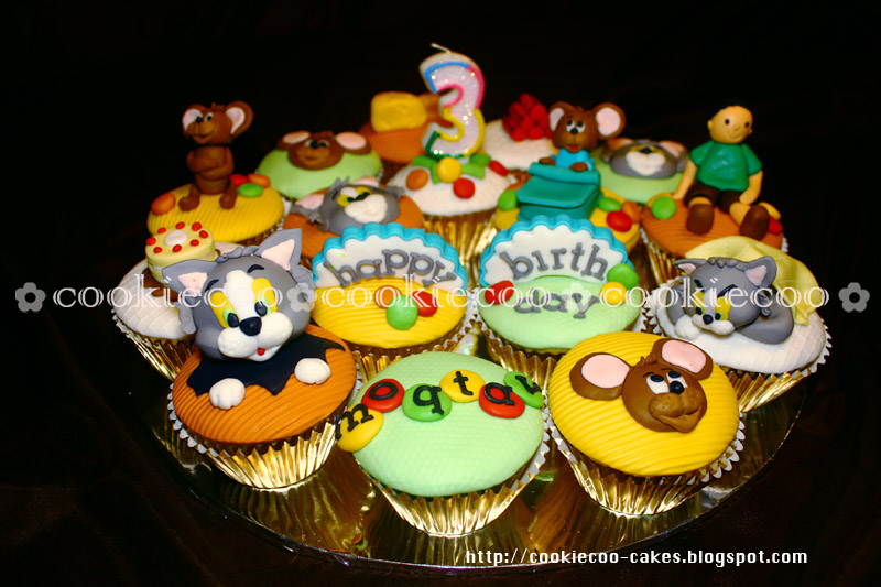 cookiecoo Tom Jerry cupcake for Moqtav