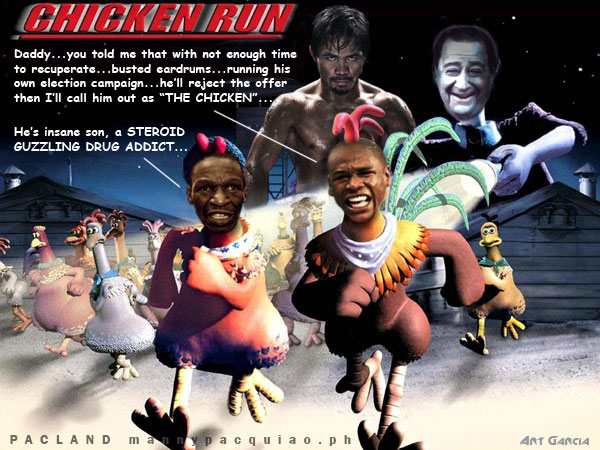 Floyd mayweather In Chicken Run