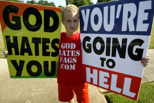 ... in support of a father who sued anti-gay protesters--AKA Fred Phelps and ...