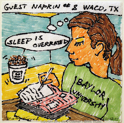 Travel Napkin #8 – Sleep is Overrated