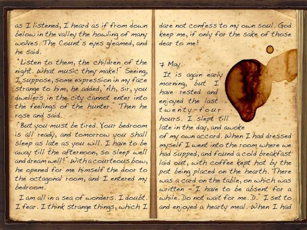 dracula novel pages