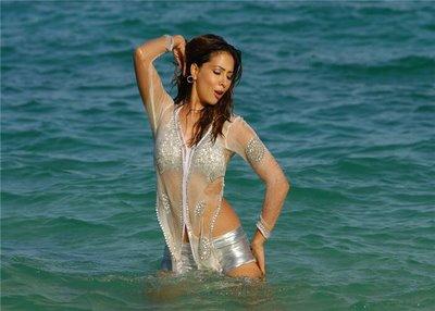 Kim Sharma at beach hot images