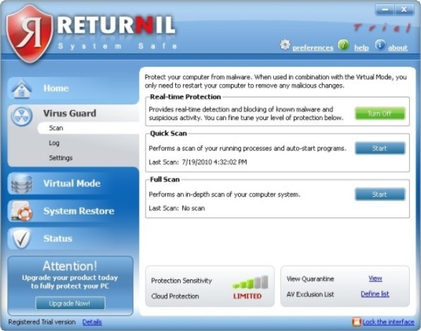 Download Returnil Virtual System Lite 2011 2.1.5.5 Full Version