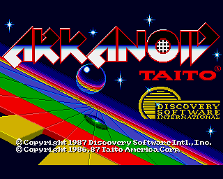 Arkanoid Loading Screen - Amiga