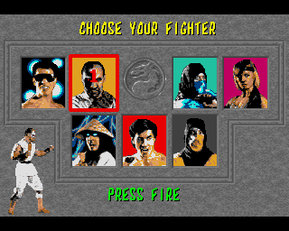 Choose your Mortal Kombat fighter