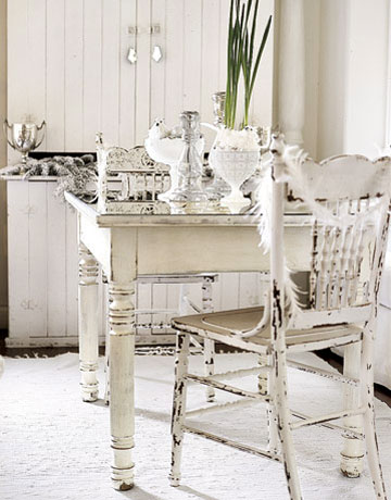 Chic Home Decor on Heart Shabby Chic  Decorating In White In Winter