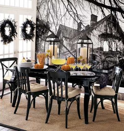 more shabby chic halloween interior decor ideas i heart shabby chic. Black Bedroom Furniture Sets. Home Design Ideas