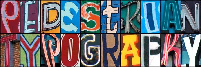 pedestrian typography