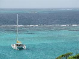 Flanerie au mouillage des Tobago Cays