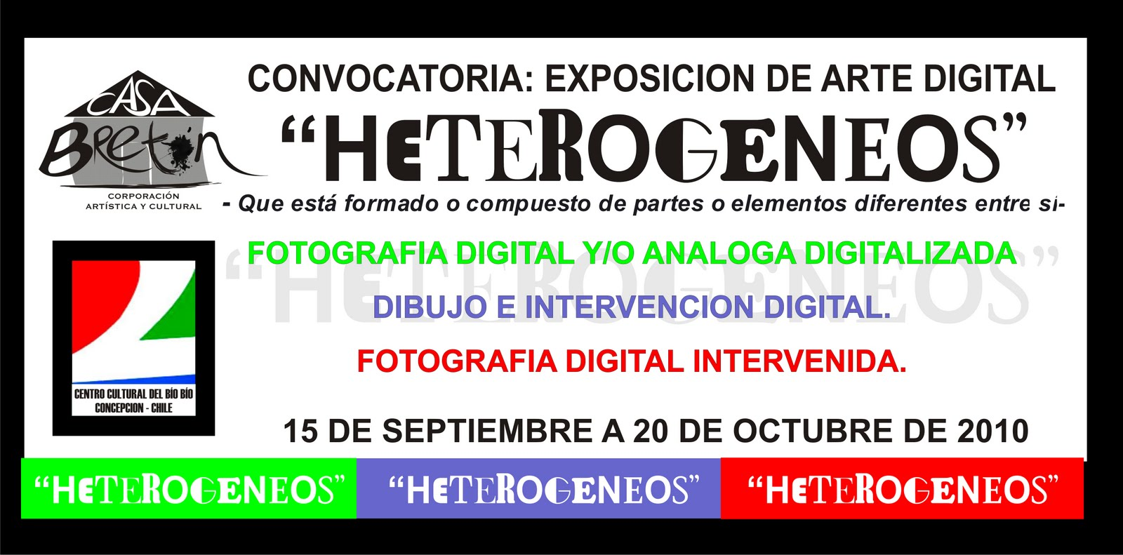 EXPOSICIÓN DE ARTE DIGITAL HETEROGENEOS
