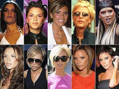 Victoria Beckham,surpreende com as mudanças no visual que faz em seus cabelos.