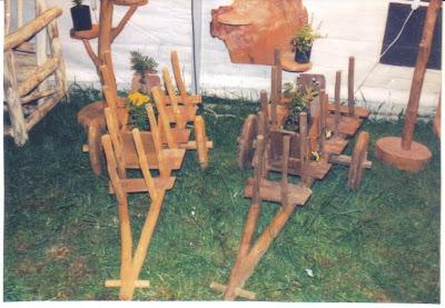 Muebles r sticos mapuzteca 7 carretas para jard n for Carretas de madera para jardin