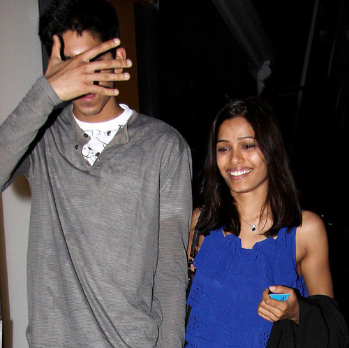 bikini model contest: Freida Pinto Dating With Dev Patel ... Freida Pinto Engaged