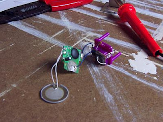 chip soldered into dreidel circuit