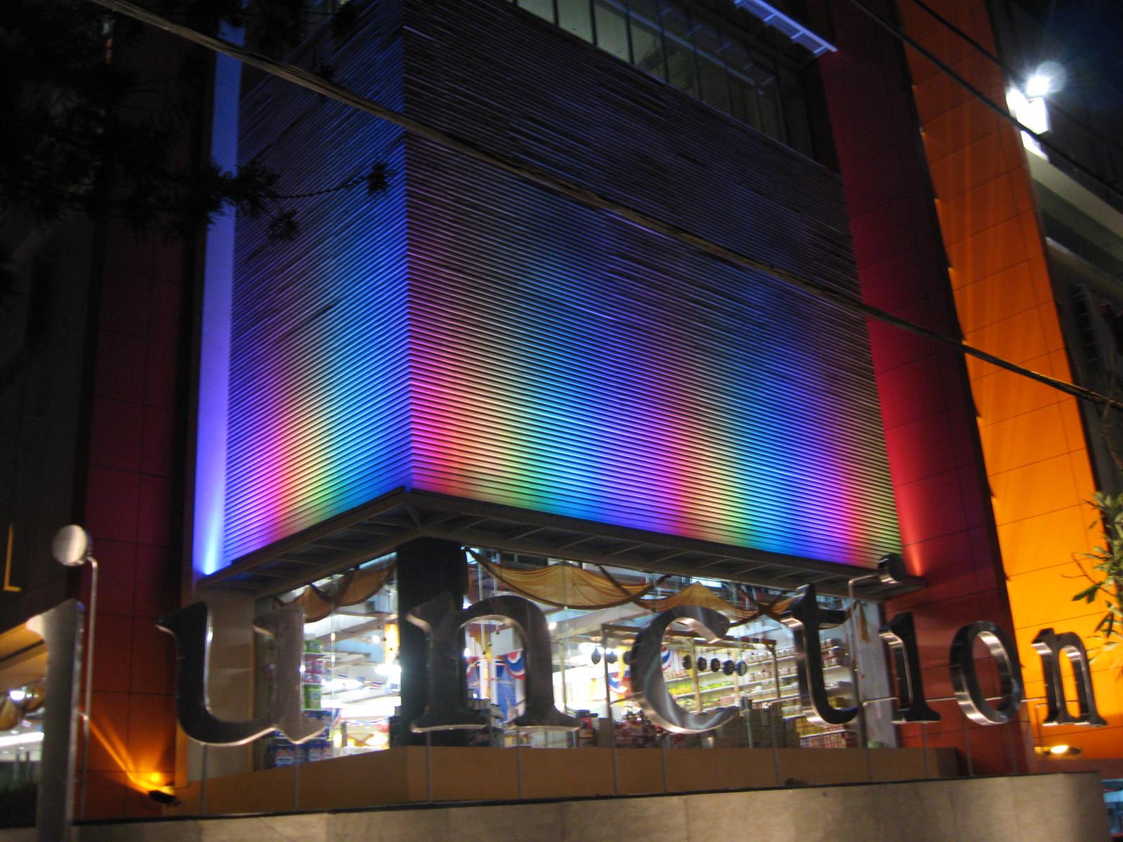 building facade lighting.