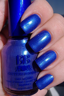 BB Couture for Nails Blue Suede Shoes