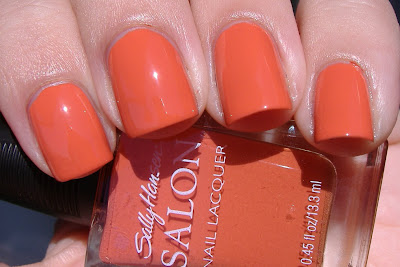 sally hansen salon nasturtium nail polish