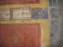 Frescos in Pompeii, Italy