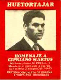 HOMENAJE A CIPRIANO MARTOS JIMÉNEZ EN SU PUEBLO NATAL
