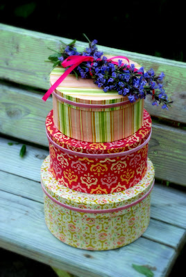Yards and yards no sew fabric covered hat boxes for Fabric covered boxes craft