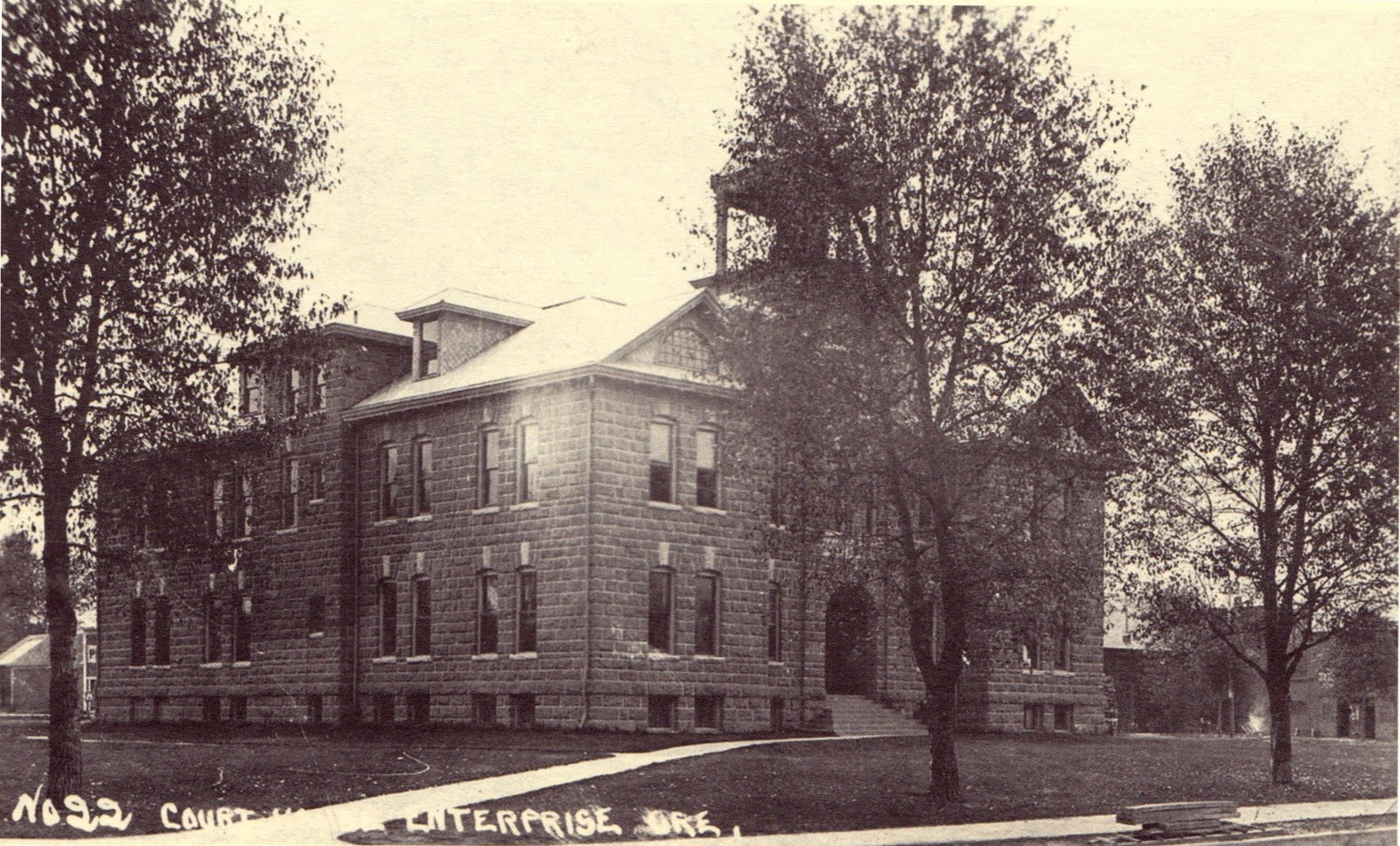 Wonderful image of Wallowa County Courthouse Enterprise OR. Constructed 1910.] with #A78524 color and 1600x967 pixels