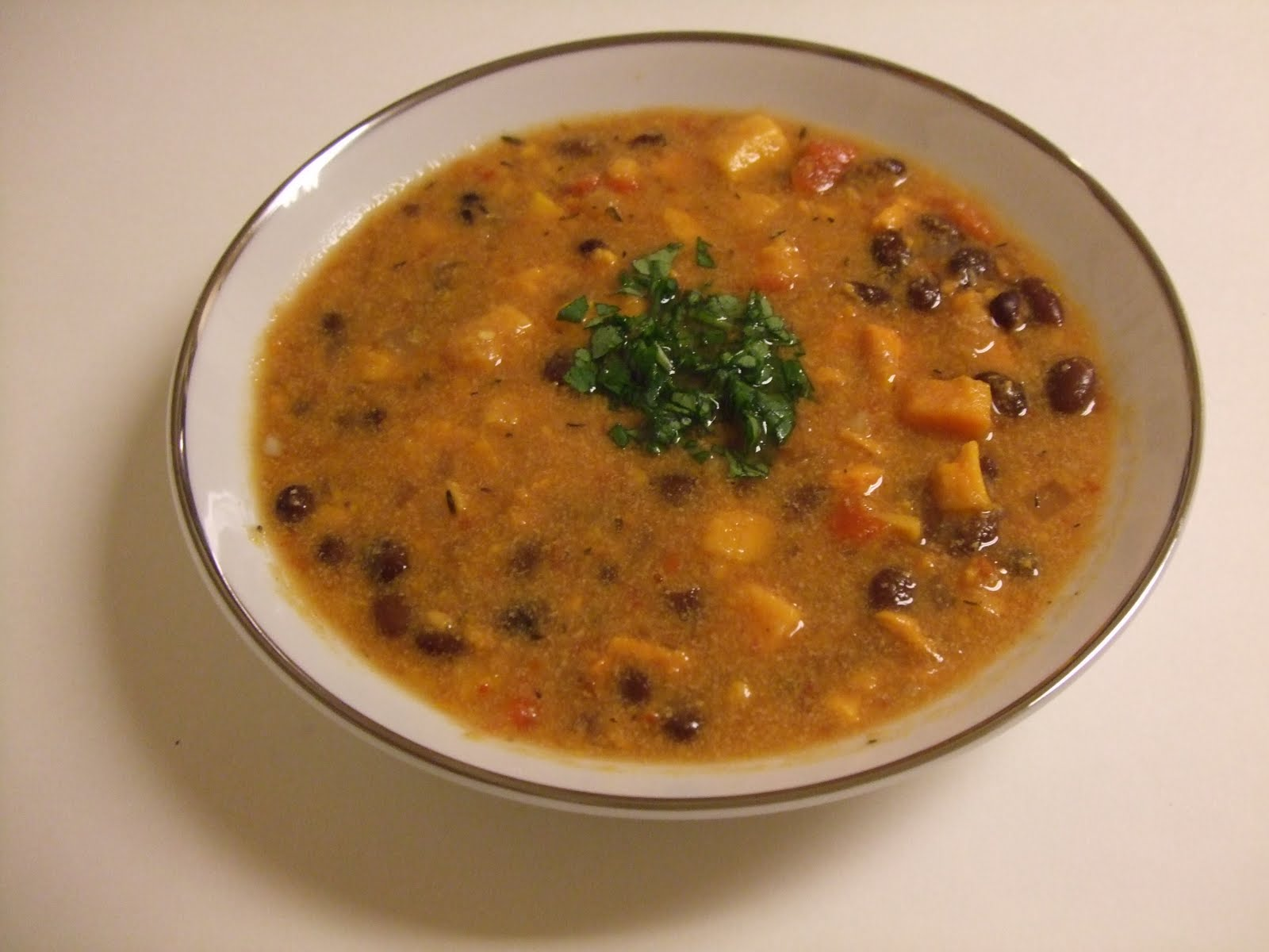 Black Bean And Sweet Potato Soup Recipe — Dishmaps