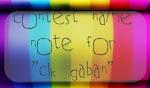 Name Note For Cik Gaban