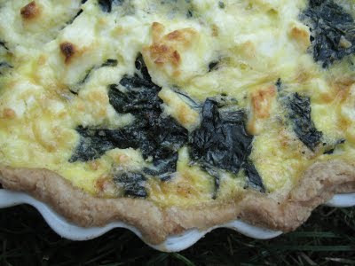Swiss Chard and Goat Cheese Quiche Recipe | mostly foodstuffs