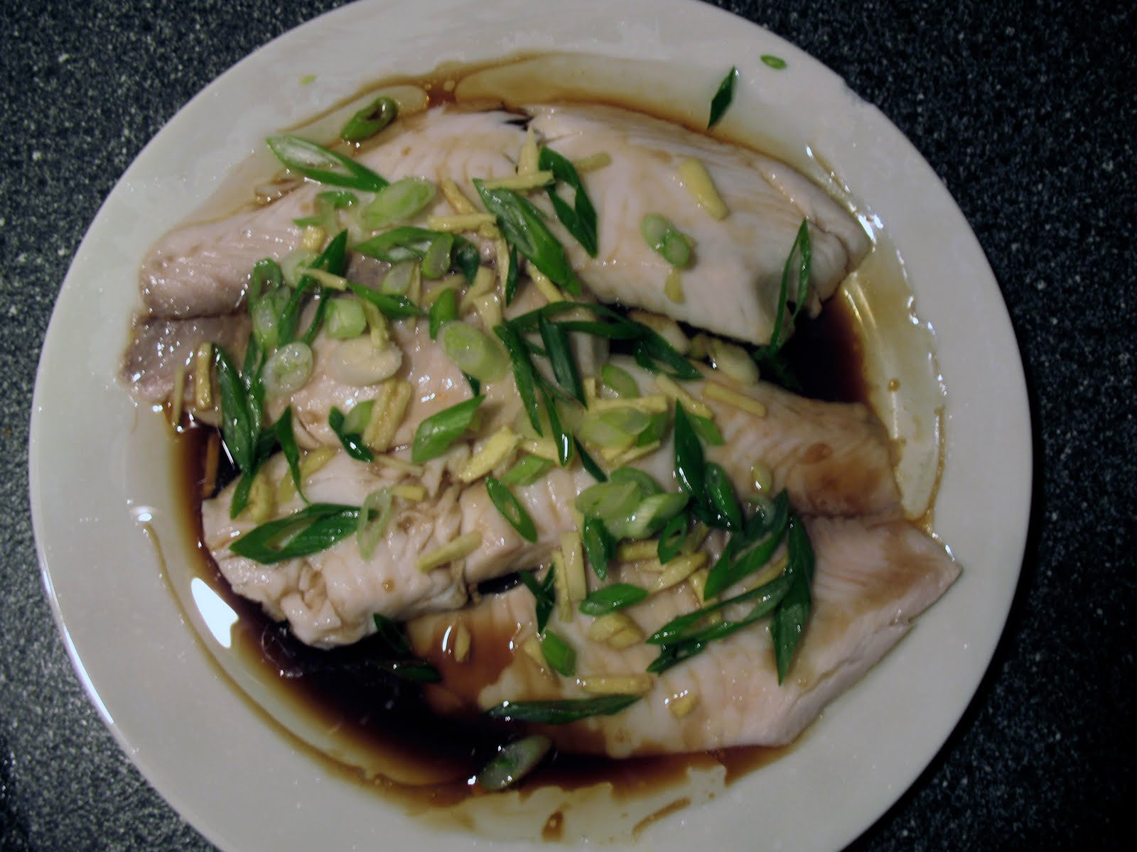 Chinese style steamed fish with sizzled ginger and for Chinese steamed fish