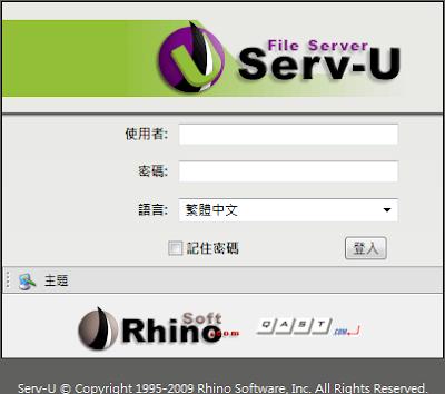 04.Serv-U 8.x Web Client Login