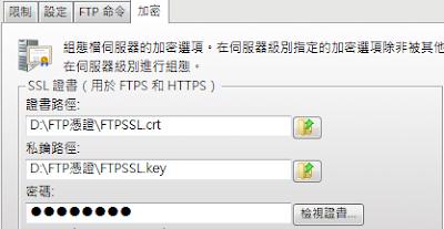 Serv-U 8伺服器限制和設定-加密