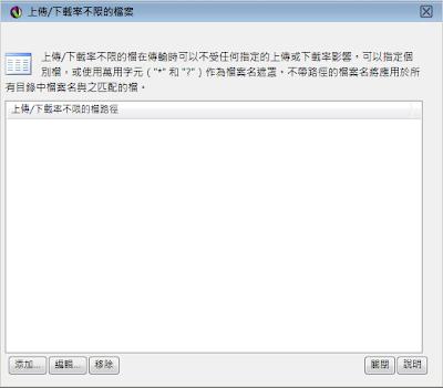 Serv-U 8伺服器-比例和配額-不限的檔案