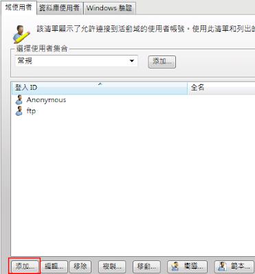 Serv-U 8伺服器-目錄訪問虛擬路徑-1新增使用者