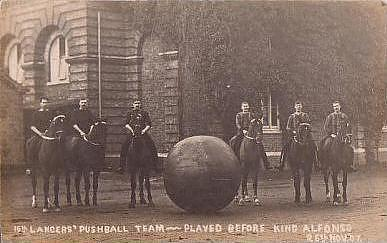 16th Lancers Pushball Team 1907, Essex. (See pushballonhorseback.blogspot.com)