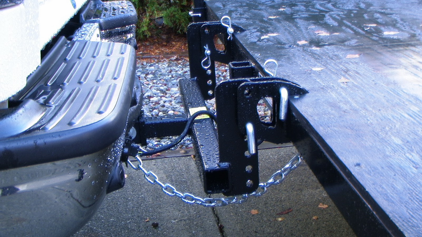Aluminum Motorcycle Ramp This is a direct connection to the receiver. There is no ball. The ...