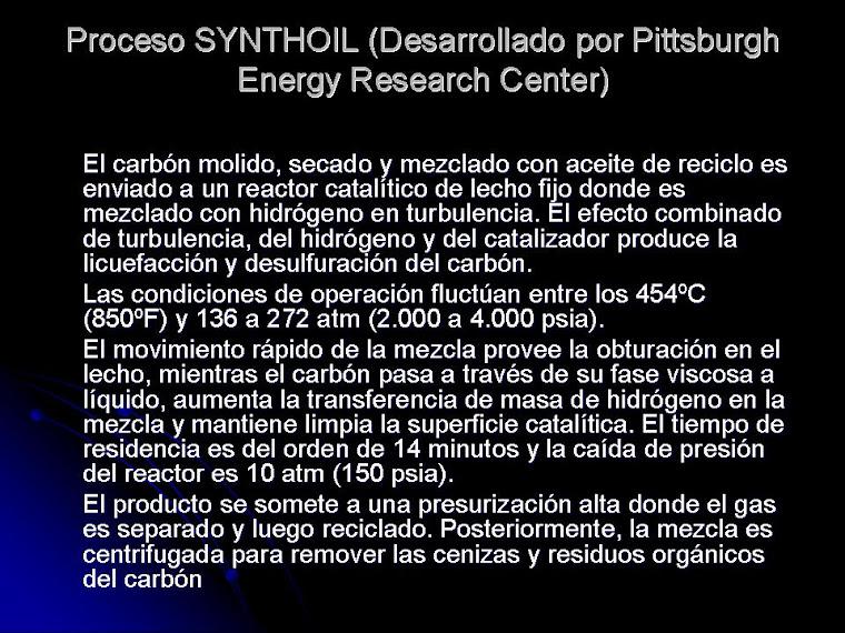 Las instalaciones para la síntesis de la gasolina