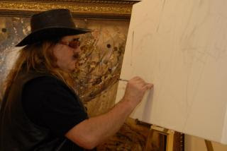 Csaba Markus painting live at Park West Art Expo 2008