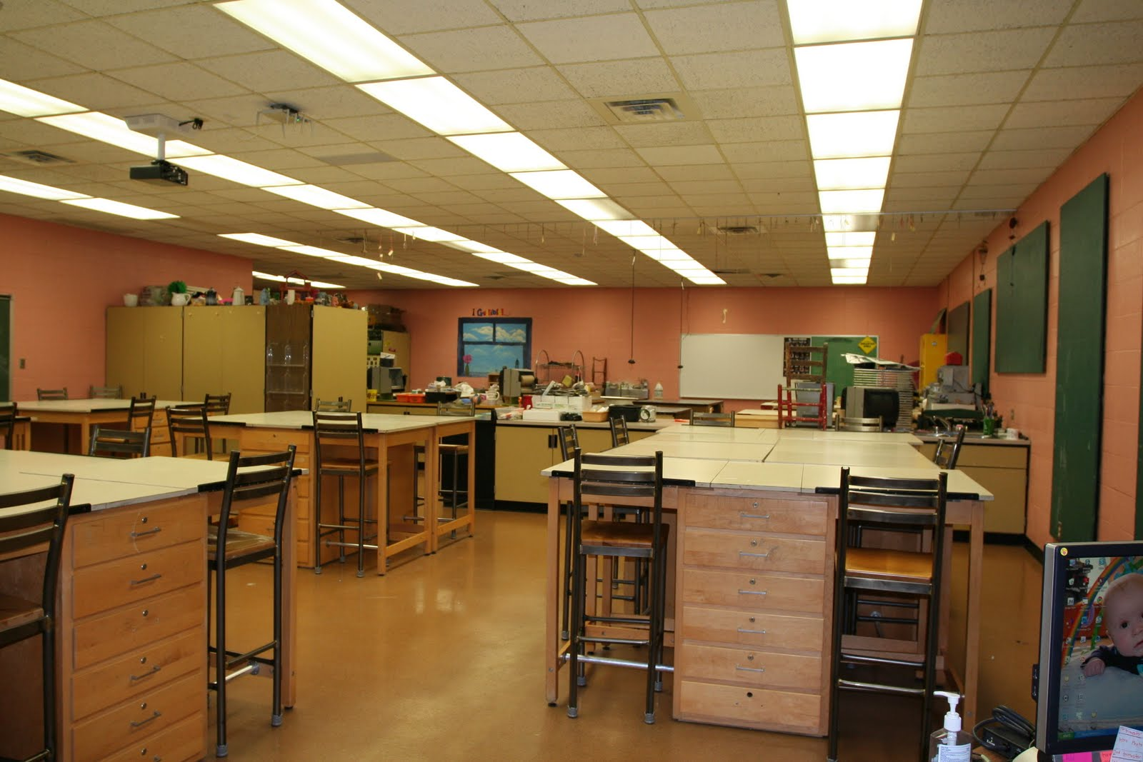 Life in a high school art room clean slate for Art room decoration school