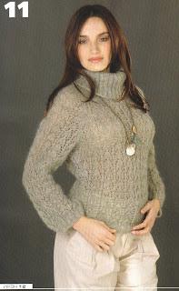 Вязание.  Нежный ажурный мохер: пуловер и жакет!