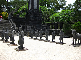 Soldiers at Nguyen Khai Dinh tomb