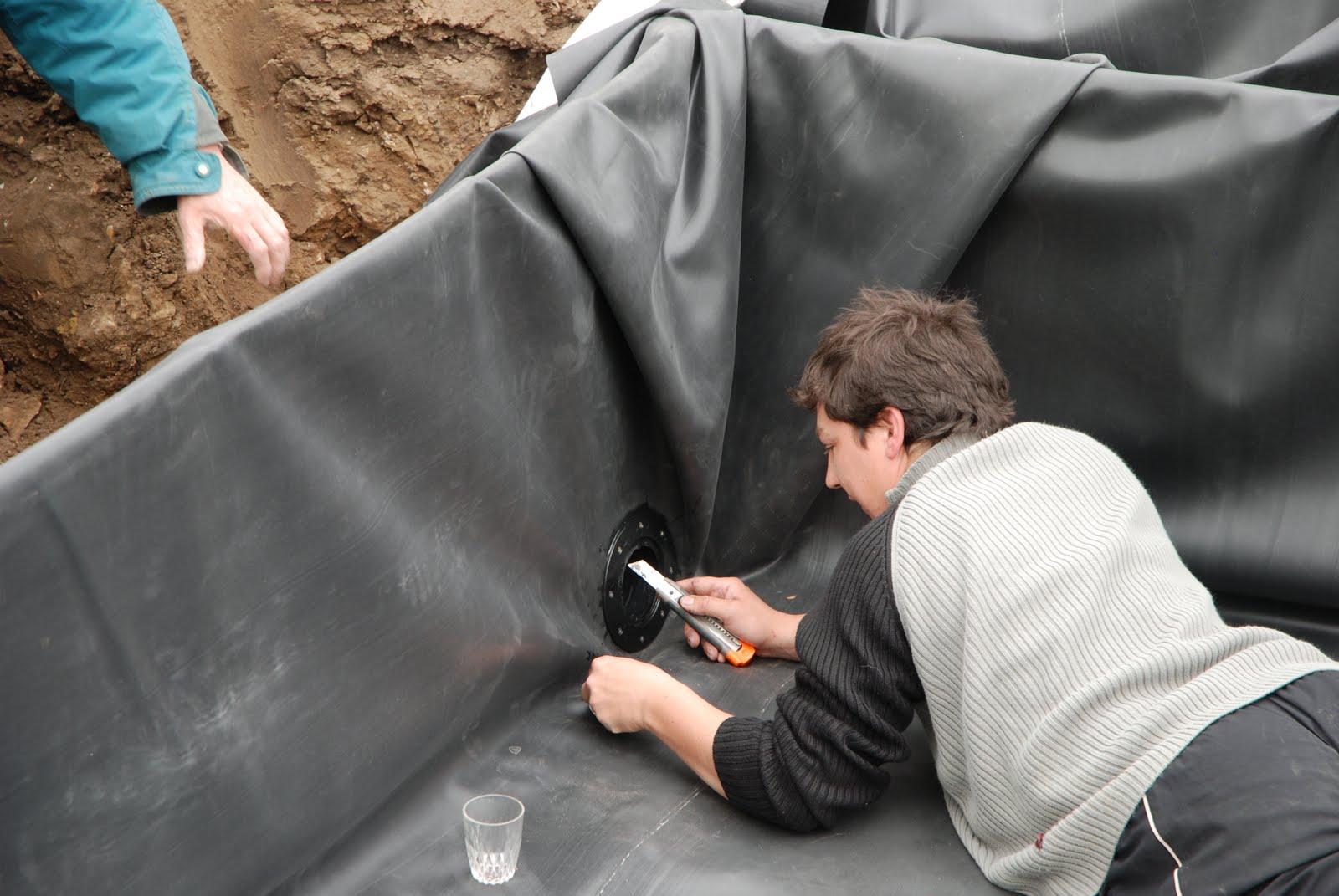Naissance d 39 une maison de paille en picardie chantier for Bache etanche bassin