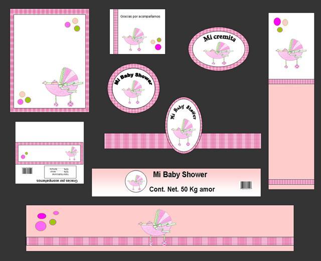Etiquetas para baby shower niña gratis - Imagui