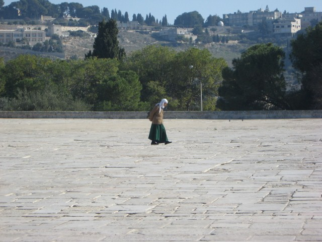 Woman at The Dome of the Rock